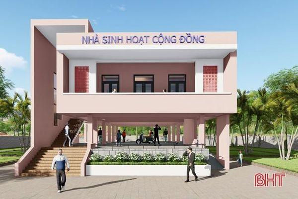 Khởi công 2 nhà văn hóa cộng đồng kết hợp tránh lũ tại Hương Sơn