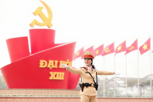 Phân luồng giao thông phục vụ Đại hội XIII của Đảng