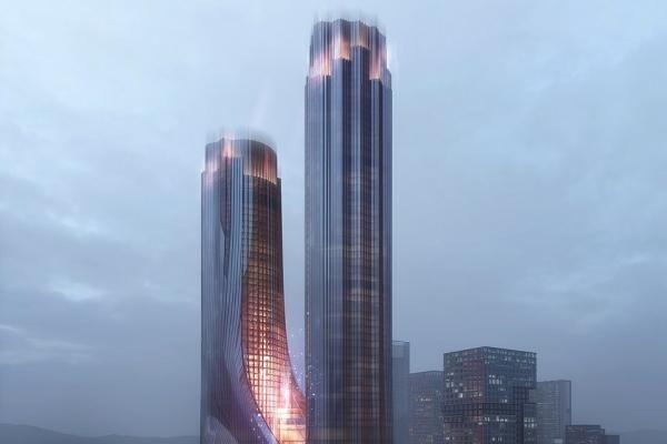 Hình ảnh ấn tượng về 'Thành phố thẳng đứng' theo phong cách khoa học viễn tưởng
