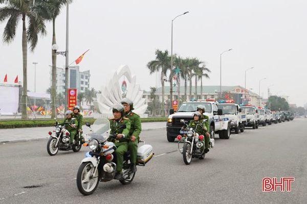 Công an Hà Tĩnh đảm bảo an ninh, an toàn tuyệt đối dịp Đại hội Đảng lần thứ XIII