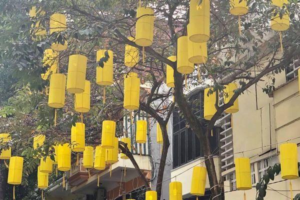 Phố cổ Hà Nội rực rỡ cờ hoa chào mừng Đại hội lần thứ XIII của Đảng