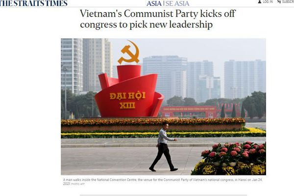 Truyền thông khu vực đưa tin về chương trình nghị sự Đại hội XIII của Đảng