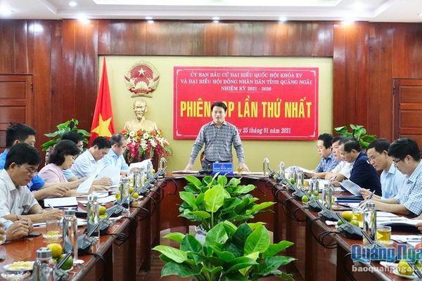 Ủy ban bầu cử tỉnh triển khai kế hoạch bầu cử và phân công nhiệm vụ các thành viên