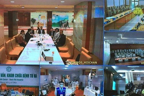 Kết nối Telehealth điều hành chăm sóc sức khỏe cán bộ dự Đại hội Đảng