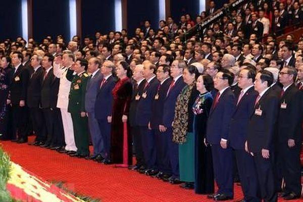 Hình ảnh khai mạc trọng thể Đại hội lần thứ XIII của Đảng
