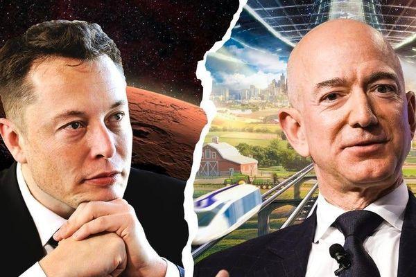 Hai tỉ phú Elon Musk và Jeff Bezos 'đối đầu' gay gắt trên không gian vũ trụ