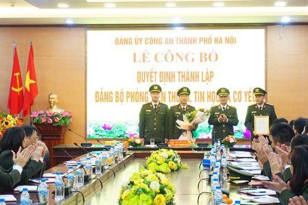 Quyết định thành lập Đảng bộ Phòng Viễn thông, Tin học và Cơ yếu CATP Hà Nội