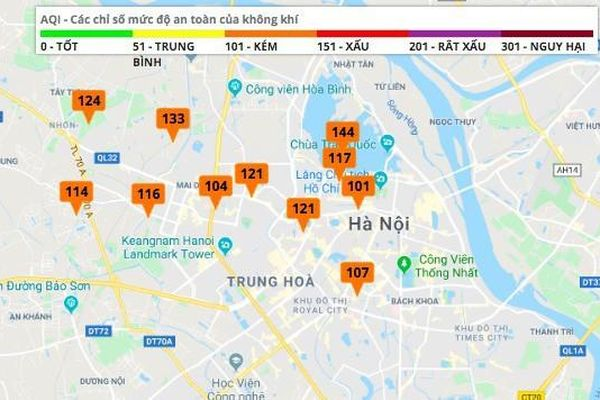 Chất lượng không khí Hà Nội đã có sự cải thiện