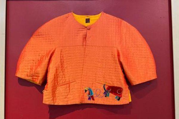 NTK Trịnh Bích Thủy giới thiệu BST áo chần bông tại triển lãm 'Đón trâu Vàng'