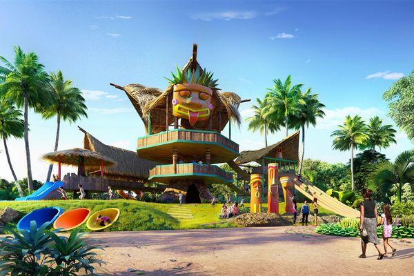 Không gian văn hóa Polynesia thu nhỏ tại Tropicana Park