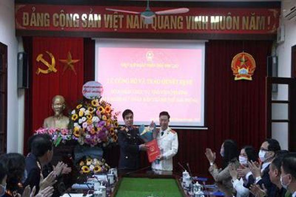 Trao quyết định bổ nhiệm chức vụ Phó Viện trưởng VKSND TP Hải Phòng
