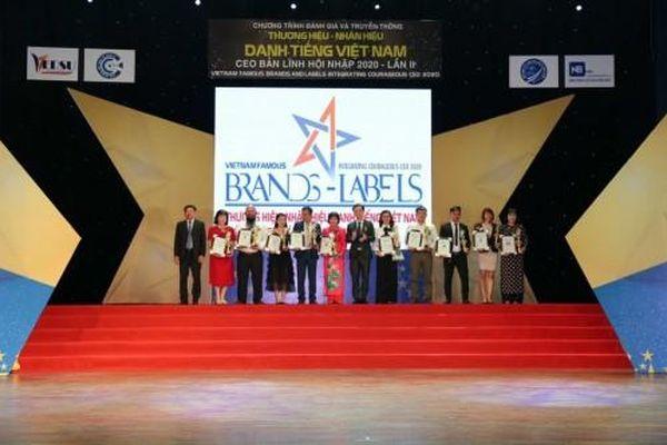 Công ty TNHH TM Dịch vụ Minh Châu nhận Top 10 Thương hiệu, nhãn hiệu danh tiếng Việt Nam 2020