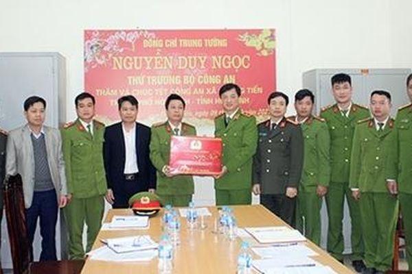 Thứ trưởng Nguyễn Duy Ngọc kiểm tra công tác Công an xã