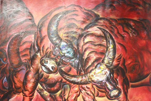 Người họa sĩ tâm huyết với 'Nghiệp' vẽ Trâu