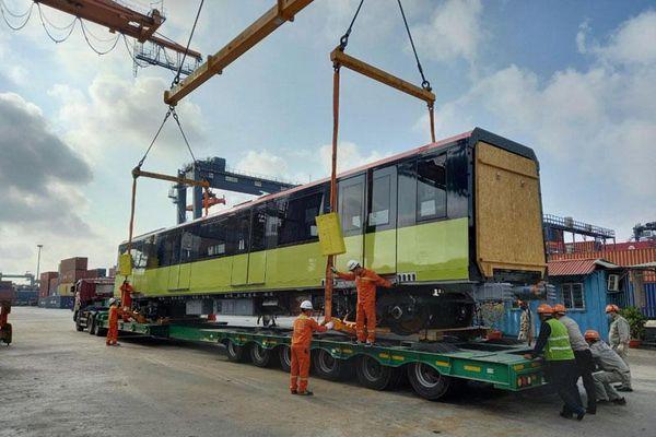 Tháng 7, hoàn thành vận chuyển 10 đoàn tàu metro Nhổn - Ga Hà Nội
