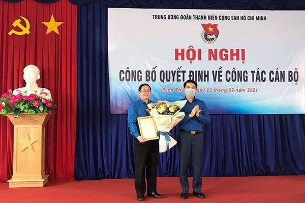 Đồng chí Nguyễn Quốc Huy giữ chức Phó Bí thư Tỉnh đoàn Bình Thuận