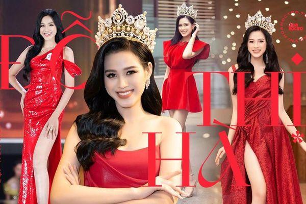 Dáng chuẩn mặc gì cũng đẹp nhưng màu đỏ mới là 'chân ái' của Hoa hậu Đỗ Thị Hà