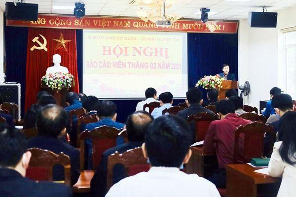 Đảng ủy Khối Cơ quan – Doanh nghiệp Lào Cai định hướng công tác tuyên truyền