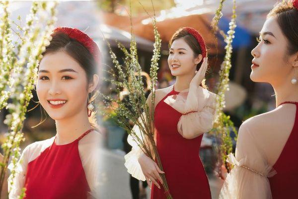 Hotgirl Hà Tĩnh từng thi Hoa hậu Việt Nam khoe nhan sắc đẹp tựa 'sương mai'