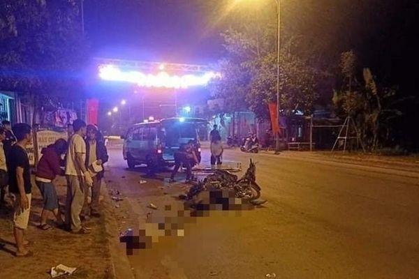 Hai xe máy tông nhau trong đêm, 2 người tử vong tại chỗ