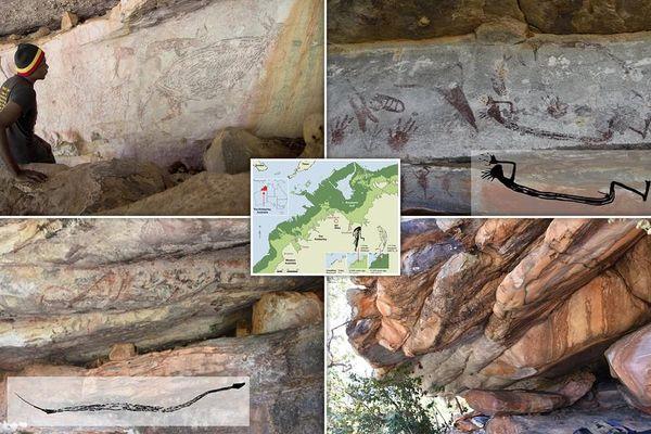 Phát hiện bức vẽ kangaroo kích thước thật có niên đại hơn 17.000 năm