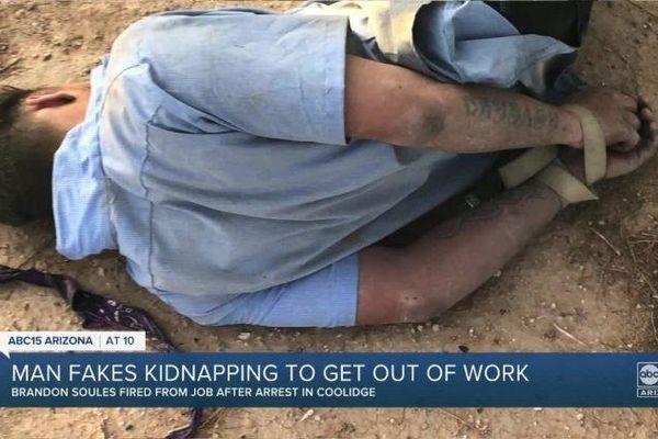 Nam thanh niên giả bị bắt cóc để được nghỉ làm