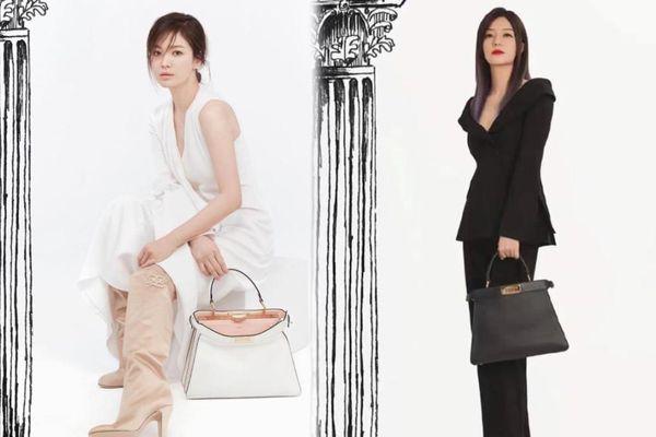 So sánh thần thái của hai đại sứ Fendi Triệu Vy & Song Hye Kyo khi xem show FENDI trực tuyến
