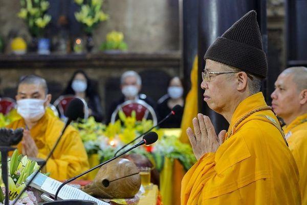 Chùa Phúc Khánh và nhiều chùa ở miền Bắc tổ chức lễ cầu an trực tuyến