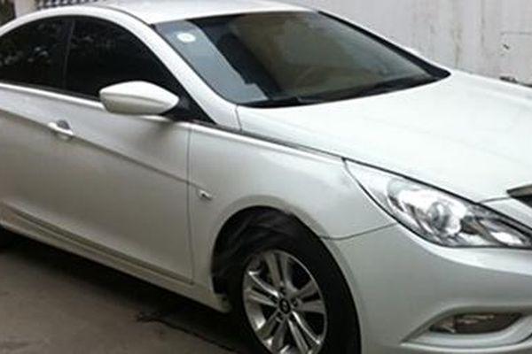 Tìm chủ xe ô tô Hyundai Sonata màu trắng