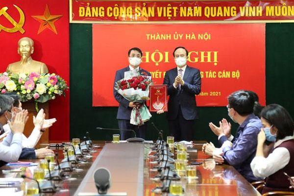 Hai đồng chí Thành ủy viên Nguyễn Doãn Hoàn, Lê Minh Đức nhận nhiệm vụ mới