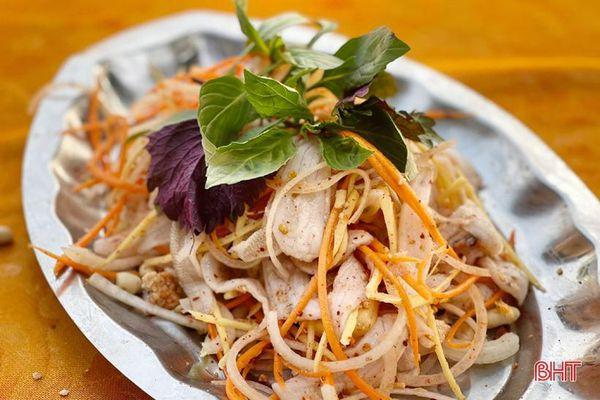 Gỏi cá đục - món ngon của ngư dân vùng biển Hà Tĩnh