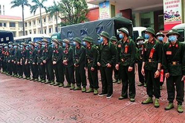 Công an Hà Tĩnh giao nhận công dân thực hiện nghĩa vụ tham gia CAND
