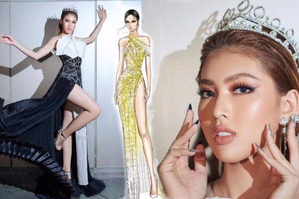 Hé lộ đầm dạ hội của Á hậu Ngọc Thảo ở Miss Grand International 2020, toàn 'đỉnh của chóp'