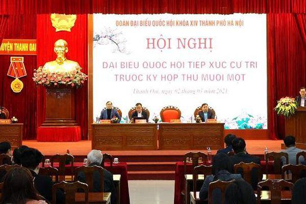 Cử tri Thanh Oai kiến nghị sớm triển khai tuyến Vành đai 4 đoạn qua Hà Nội