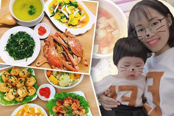8X khoe những bữa cơm giản dị