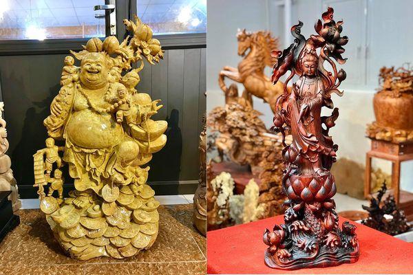 Tượng gỗ Trung Kiên: Các nghệ nhân điêu khắc tượng gỗ bằng cả tấm lòng