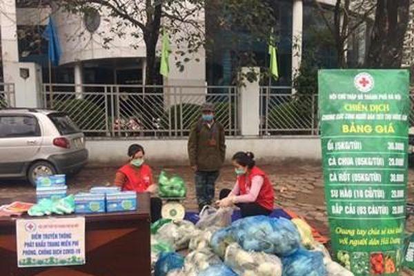 Hội Chữ thập đỏ Việt Nam hỗ trợ tiêu thụ hàng trăm tấn nông sản cho người dân vùng dịch