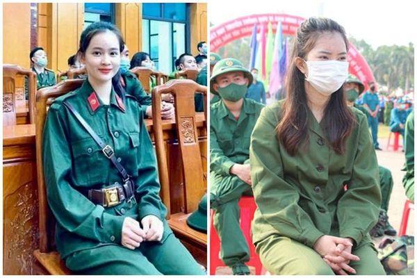 Loạt nữ tân binh xinh đẹp nổi bật ngày lên đường nhập ngũ