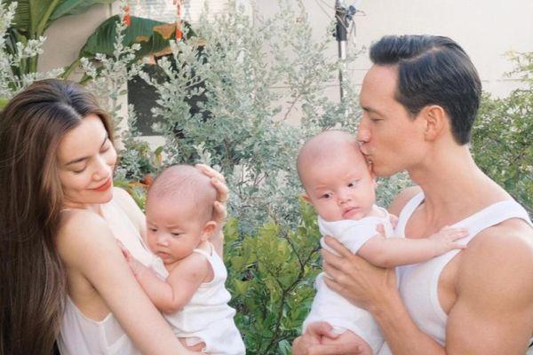 Hà Hồ khoe loạt ảnh cực đáng yêu của Leon - Lisa mừng hai bé tròn 4 tháng tuổi