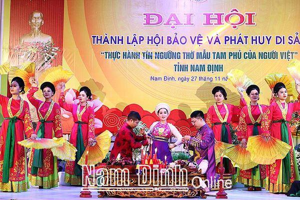 Nam Định: Phát huy vai trò của cộng đồng trong bảo tồn giá trị di sản văn hóa 'Tín ngưỡng thờ Mẫu Tam phủ của người Việt'