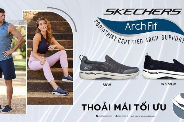 Thoải mái bay nhảy với 'siêu phẩm' Gowalk Arch Fit mới toanh của Skechers
