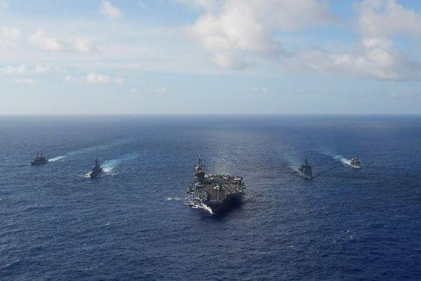 Tàu chiến Mỹ tiếp tục tập trận với Lực lượng Phòng vệ Nhật Bản