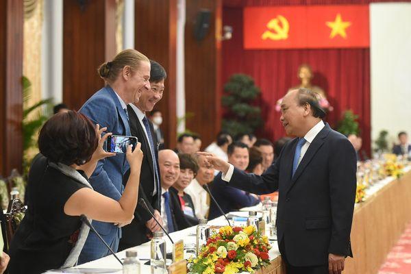 CHÙM ẢNH: Thủ tướng dự Đối thoại 2045