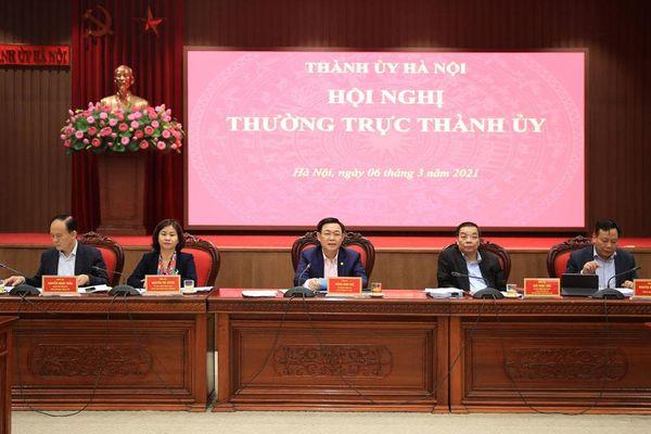 Thường trực Thành ủy Hà Nội nhất trí cao với dự thảo 6 chương trình công tác