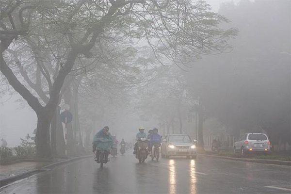 Thành phố Hà Nội tiếp tục mưa phùn, rét về đêm và sáng