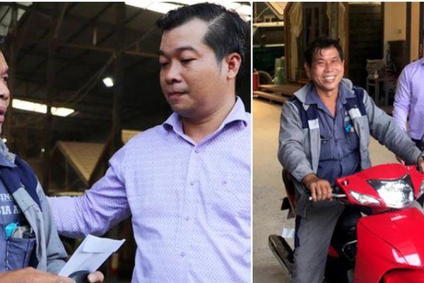 Người đàn ông nhặt tiền rơi giữa đường bất ngờ được tặng xe máy mới