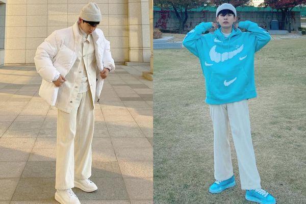 Chàng trai Hàn Quốc luôn mặc đồ đẹp với giày sneakers