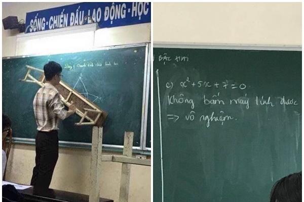 Lên bảng không giải được bài, nam sinh ghi câu trả lời đầy quyết đoán khiến cả lớp 'phục sát đất'