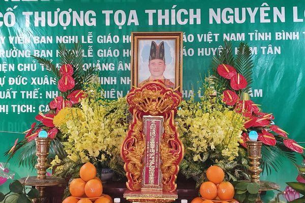 Bình Thuận: Lễ tiểu tường cố Thượng tọa Thích Nguyên Lộc