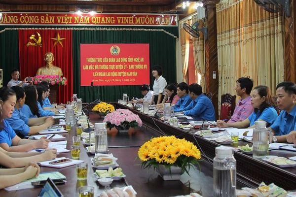 Liên đoàn lao động Nam Đàn chung tay thực hiện mục tiêu xây dựng nông thôn mới kiểu mẫu